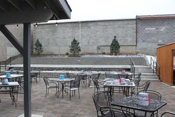 Patio Seating - Almost Finished Construction